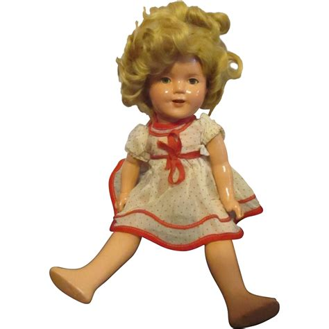 shirley temple composition doll 13 vintage earlier composition shirley temple doll 13 quot from
