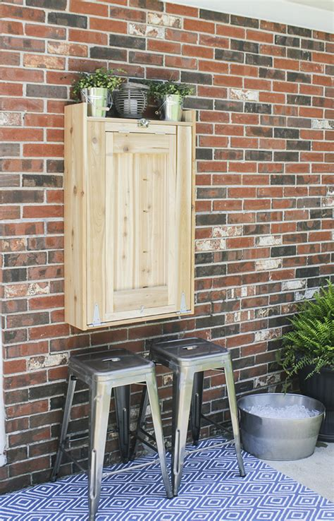 diy murphy dining table how to build an outdoor murphy bar