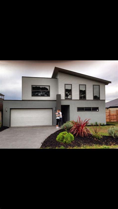 house colours grey render weathertex  dark