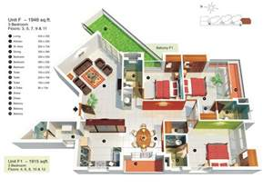 Modern Apartment Decor 50 Three 3 Bedroom Apartment House Plans Architecture