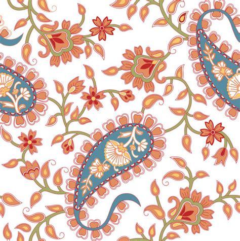 paisley pattern wall art orange and blue paisley pattern downloadable print wall art