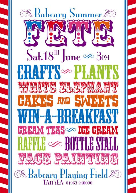 summer fair flyer template babcary summer fete the six pilgrims
