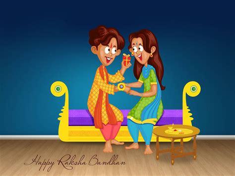 cartoon wallpaper for raksha bandhan happy raksha bandhan greetings wishes hd wallpaper