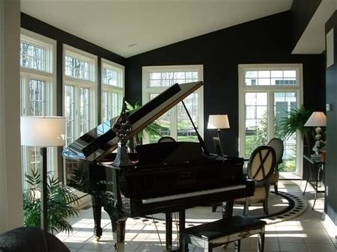 piano room black painted rooms home decorating design forum gardenweb black painted black and