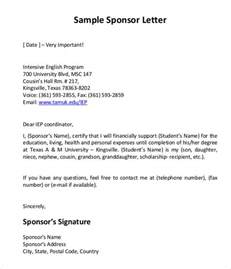 Invitation Letter For Us Visa For Nephew Sponsorship Letter Templates Free Sle Exle Format