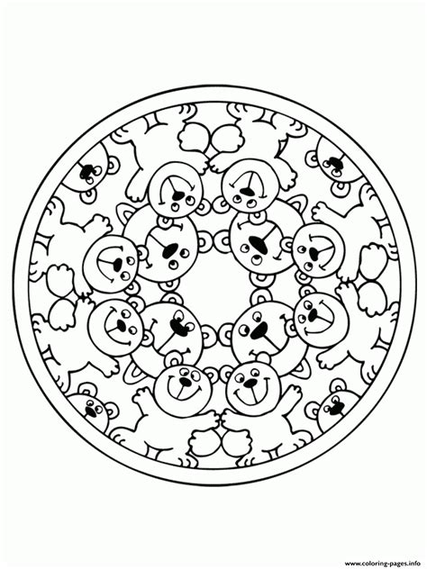 mandalas coloring pages on coloring book info bears mandala sab5a coloring pages printable