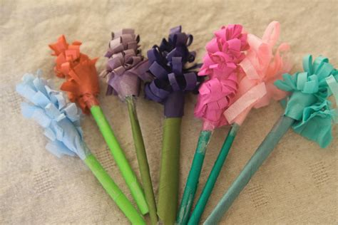 Spring flowers paper crafts for kids make handmade crochet craft