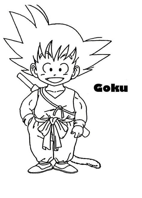 imagenes de goku para calcar imagen de goku ni 241 o para imprimir recortar y colorear
