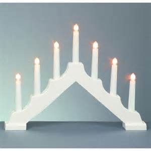 battery operated christmas candle bridge light red white