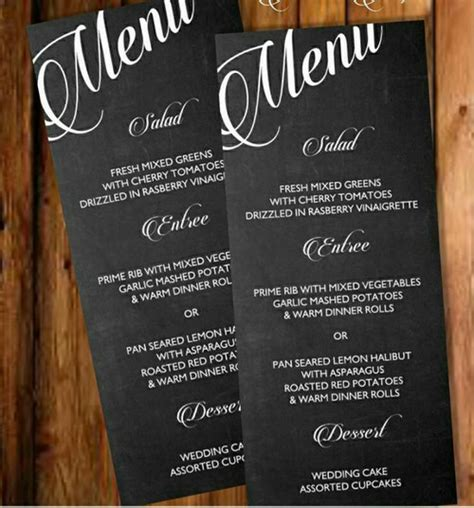 printable chalkboard menu template posh pixel designs