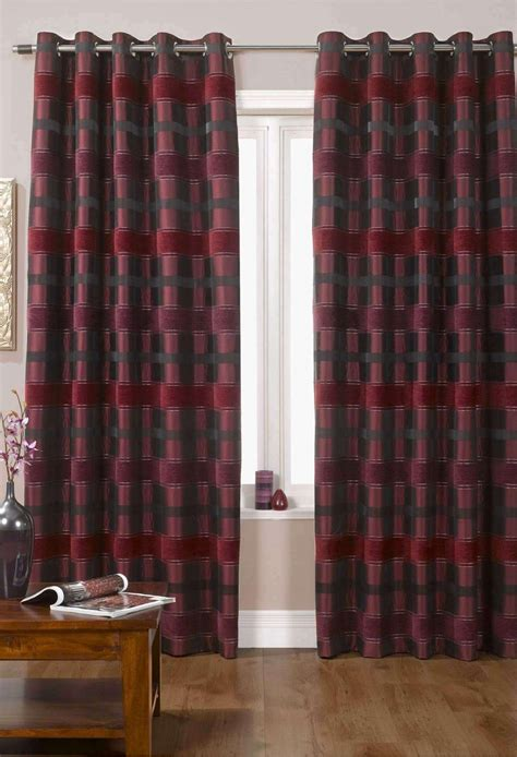 Orkney Wine Lined Eyelet Curtains Woodyatt Curtains Stock