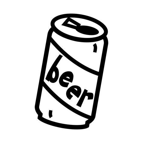 beer cartoon black and white beer can black and white clipart clipart suggest
