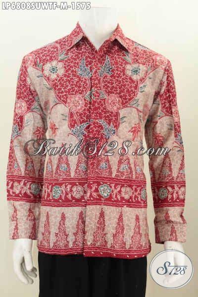 Kemeja Hem Merah 1 hem batik warna merah kemeja batik istimewa untuk