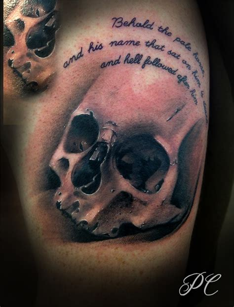 pale horse tattoo skull by paulwashere12times on deviantart