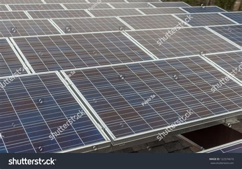 Solar Panel For Shed by Solar Panels In A Industrial Photovoltaic System Installed