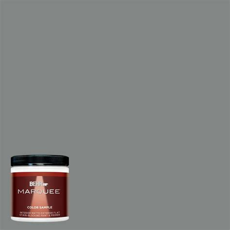 behr marquee 1 gal ppu26 06 elemental gray matte exterior paint 445401 the home depot