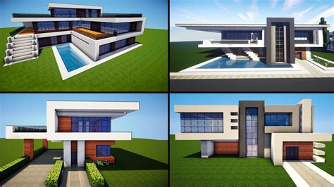 minecraft house modern designs minecraft 30 awesome modern house ideas tutorial download 2016 youtube