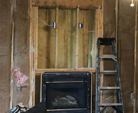 need some help with building quot cubby quot above gas fireplace