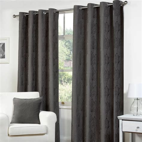 charcoal curtain panels fusion palma curtains 66 quot width x 90 quot drop charcoal