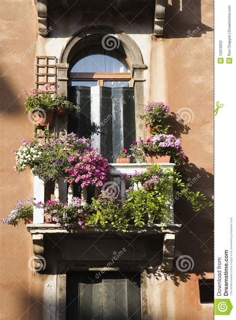 balcony flowers balcony and flowers stock photo image of window arched
