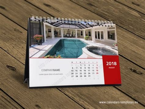 2018 Calendar Desk 2018 Horizontal A5 Desk Calendar Design Template Kb10