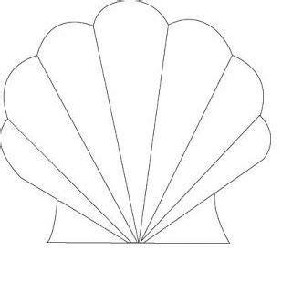 Muschel Vorlagen by Seashell Cutout Templates Cutouts Patterns