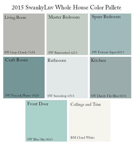 whole house paint color schemes decor miscellaneous sherwin williams whole house color palette google search