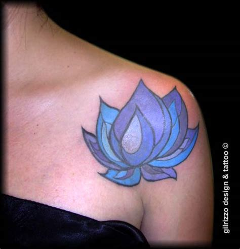 blue lotus tattoo nz blue and pink lotus tattoo on foot