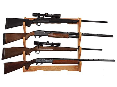 Gun Racks by Allen Wall Display 4 Gun Rack Wood