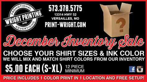 december special inventory reduction sale wright