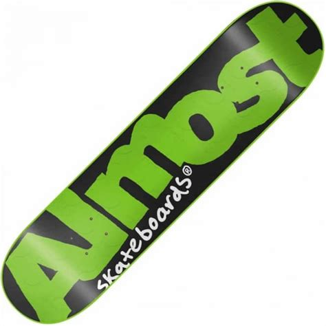 Skateboard Griptape Grizzly Neon Green almost skateboards almost fluorescent dips green