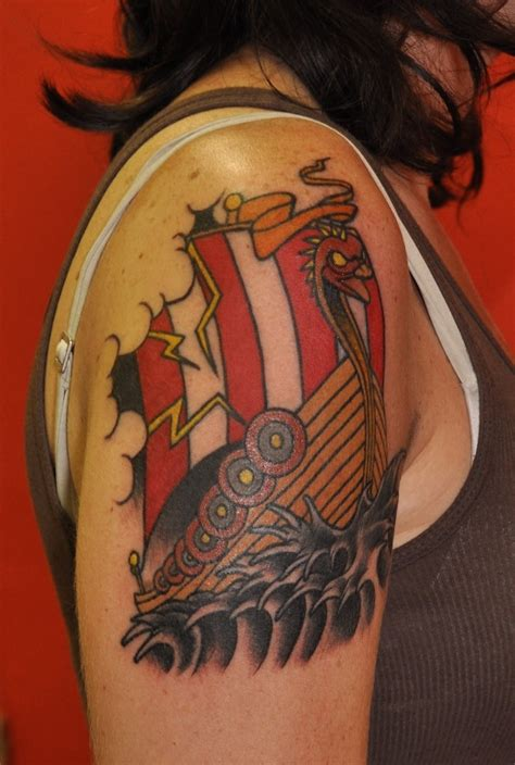 viking ship tattoo another great viking ship