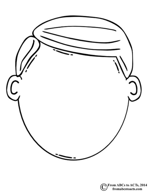 coloring page blank face and body coloring pages