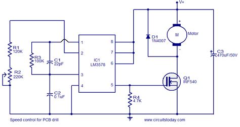 pc based dc motor speed speed for pcb drill electronic circuits and