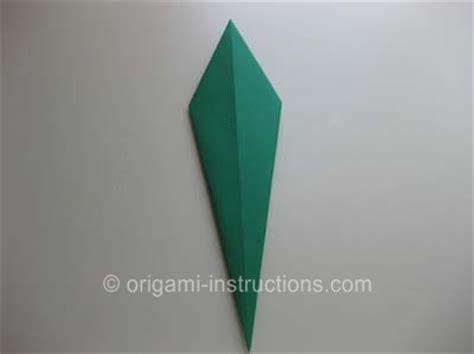 Origami Tulip Leaf - origami traditional tulip leaf folding how