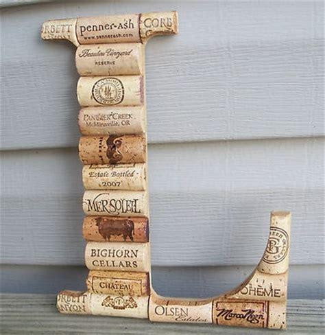 Wine Cork L by Wine Cork Letter Initial Monogram L Custom Made Home Wedding Decoration