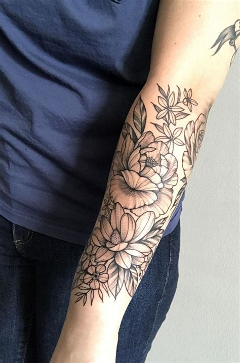 flower arm tattoo image result for forearm sleeve