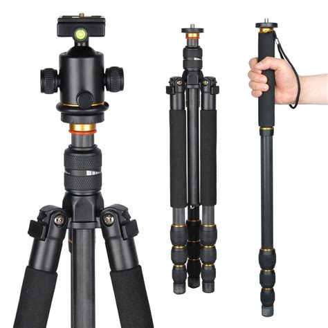 Monopod For Dslr professional carbon fiber tripod monopod w for dslr travel ebay