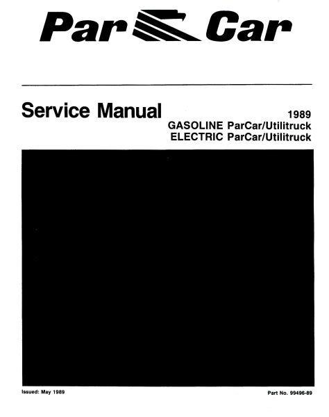 service manuals gas vintage golf cart parts