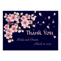 beautiful thank you cards beautiful night sakura thank you card zazzle