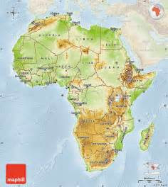 Map Of Africa Physical Features by Physical Map Of Africa Lighten