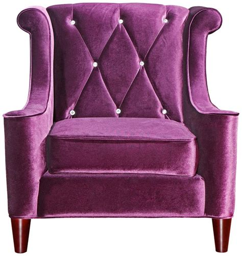 purple velvet chair and ottoman barrister crystal purple velvet club chair would be so