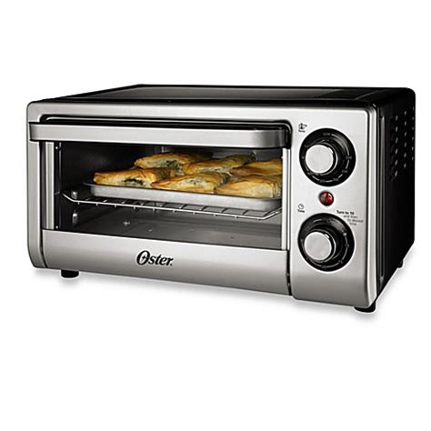 toaster bed bath and beyond oster 174 4 slice toaster oven in silver bed bath beyond