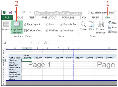 cara membuat grafik break even point di excel cara mengatur dan melihat page break di excel 2013