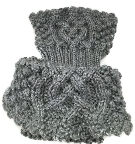 Redknot Manacle Brown Irland celtic knot boot cuffs womens gray caron simply soft nancysknotslace