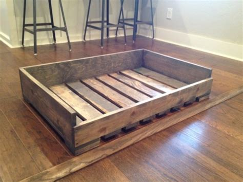 pallet dog beds solid wood quot pallet style quot dog bed aftcra