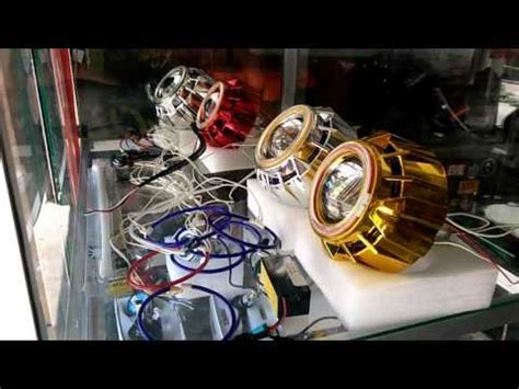 Lu Proji Beat Karbu projector retrofit honda scoopy mh1 and 40w hpl funnydog tv