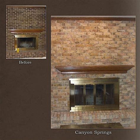 how to refinish a brick fireplace chicago fireplace brick refinishing project modern
