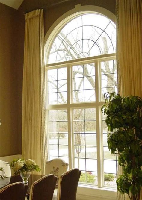 curtains for arch window draperies arched window window treatments pinterest