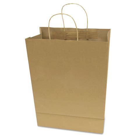 shopping bags premium large brown paper shopping bag 50 box ebay